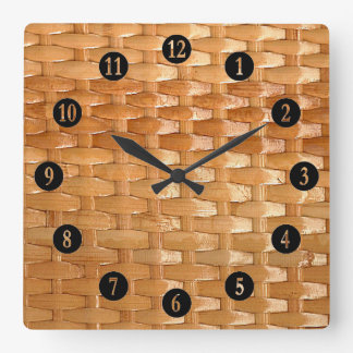 The Look of Lacquer Wicker Basketweave Texture Wall Clock