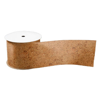 The Look of Macadamia Cork Burl Wood Grain Satin Ribbon