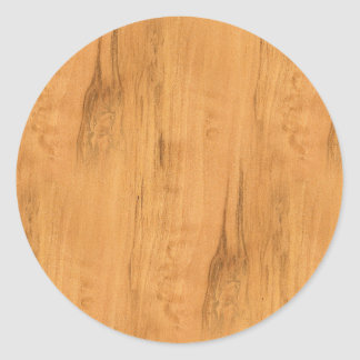 The Look of Maple Wood Grain Texture Classic Round Sticker