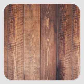 The look of real wood! square sticker