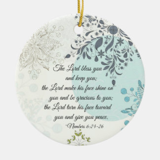 The Lord Bless You, Numbers 6:24, Bible Christmas Christmas Ornament