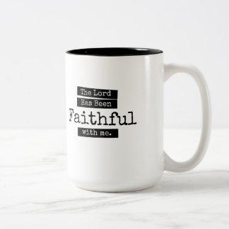 The Lord Has Been Faithful Two-Tone Coffee Mug
