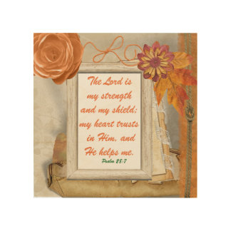 The Lord is my strength and shield Wall Art