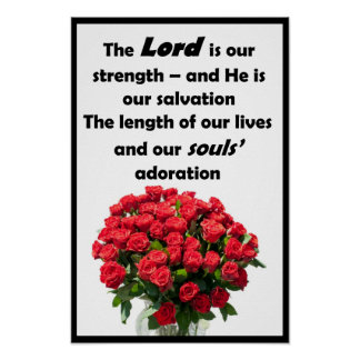 """The Lord is our Strength - 12"""" x 18"""" Poster"""