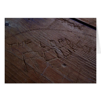 The Lord Rocks Wood carving Greeting Card