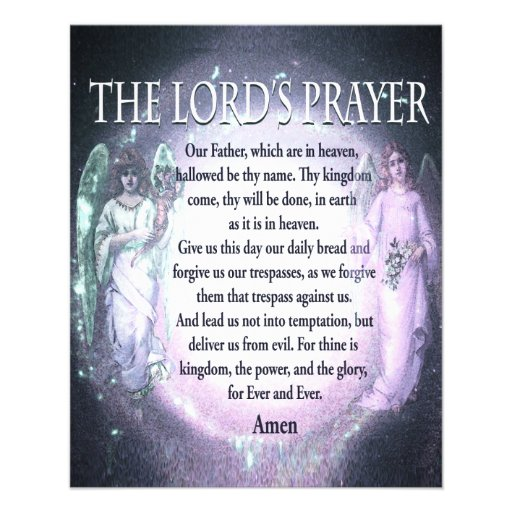 The Lord's Prayer Personalized Flyer