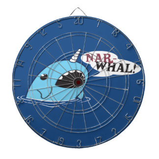 The Loud Narwhal Dartboard With Darts