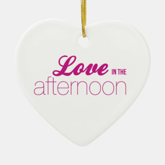 The love in the Afternoon (soap Opera line) Christmas Ornament