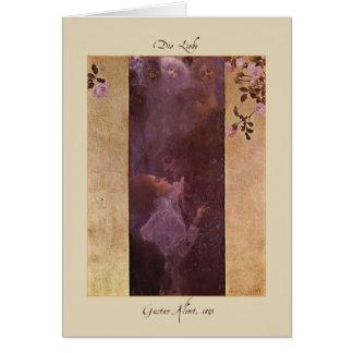 The Love Valentine Card by Gustav Klimt 1895