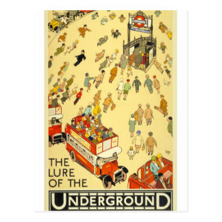 The Lure of the Underground, London Postcard