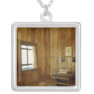 The Luther Room in Wartburg Castle Silver Plated Necklace