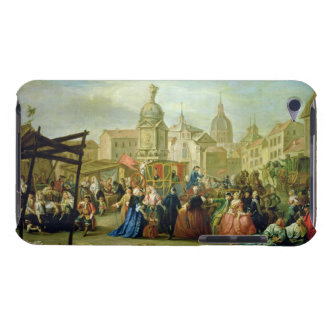 The Madrid Fair in the Plaza de la Cebeda (oil on iPod Touch Case