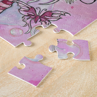 """""""The Magenta Fairy"""" puzzle with box"""