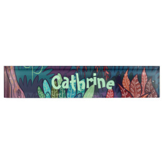 The magic forest -  Desk name plate