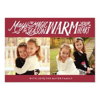 The Magic of the Season Holiday Photo Card