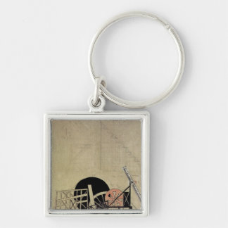 The Magnanimous Cuckold' Silver-Colored Square Key Ring