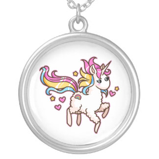 The Majestic Llamacorn Silver Plated Necklace