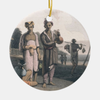 The Malays of Java, engraved by the artists, pub. Christmas Ornament