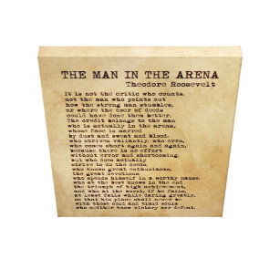 graphic relating to The Man in the Arena Printable known as The Guy Within Arena Posters Image Prints Zazzle NZ