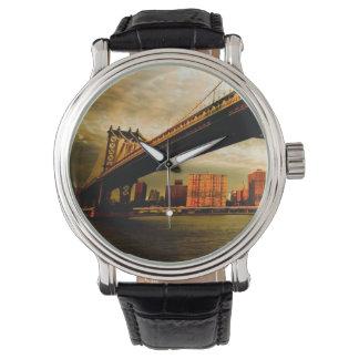The Manhattan bridge view from Brooklyn side (NYC) Watch