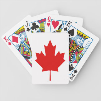 The Maple Leaf flag of Canada Bicycle Playing Cards