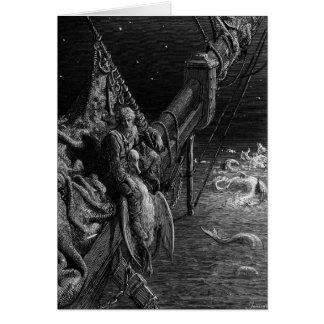 The Mariner gazes on the serpents in the ocean Greeting Card
