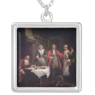 The Marriage Contract Silver Plated Necklace