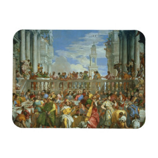 The Marriage Feast at Cana, c.1562 (oil on canvas) Rectangular Photo Magnet