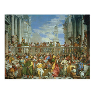 The Marriage Feast at Cana, c.1562 (oil on canvas) Post Card