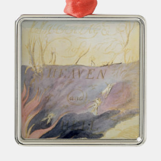 The Marriage of Heaven and Hell Silver-Colored Square Decoration