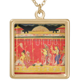 The Marriage of Krishna's Parents, from a disperse Gold Plated Necklace