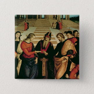 The Marriage of the Virgin, 1504 15 Cm Square Badge