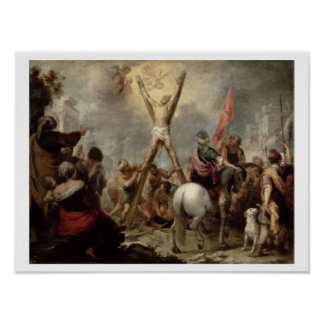 The Martyrdom of St. Andrew, 1675-82 (oil on canva Poster