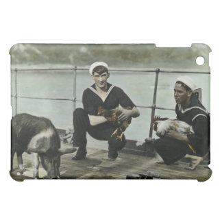 The Mascots Vintage WWII Sailor Rooster Pig iPad Mini Cover