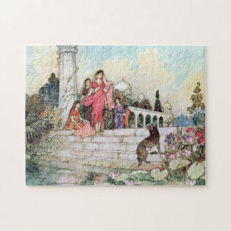 The Match-Making Jackal by Warwick Goble Jigsaw Puzzle