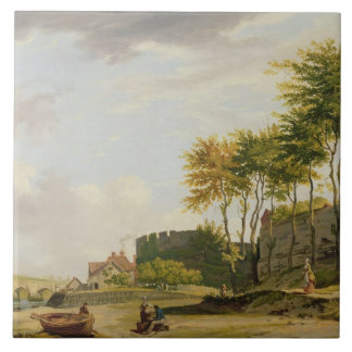 The Medway at Rochester, 1776 (oil on canvas) Tile