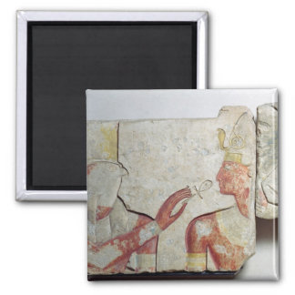 The Meeting of the Pharaoh and Horus Square Magnet
