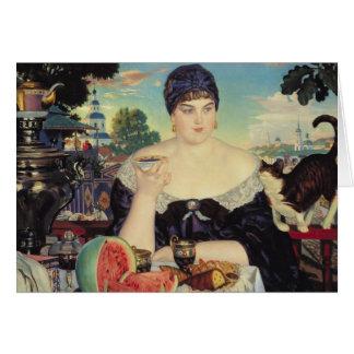 The Merchant's Wife at Tea, 1918 Card