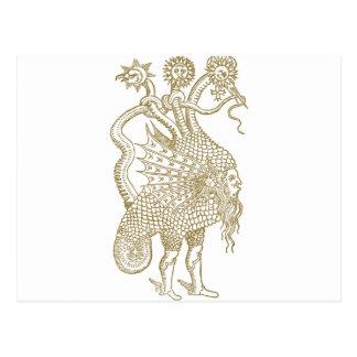 The Mercurial demon of the alchemic philosophers Postcard