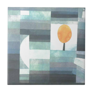 The messenger of autumn by Paul Klee Tile