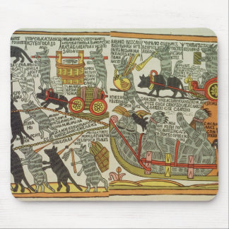 The Mice Bury the Cat, Russian, late 18th century Mouse Pad