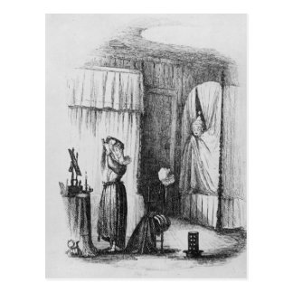 The Middle-Aged Lady in the Double-Bedded Room Postcard