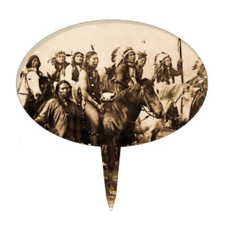 The Mighty Sioux Vintage Native American Warriors Cake Pick