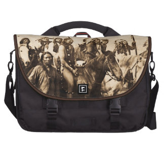 The Mighty Sioux Vintage Native American Warriors Laptop Bag