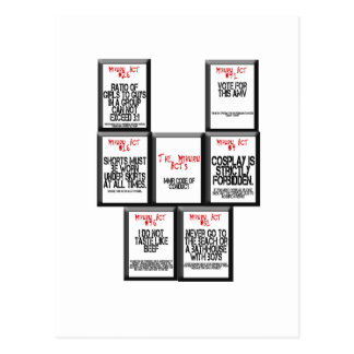 The Mikuru Acts Postcards