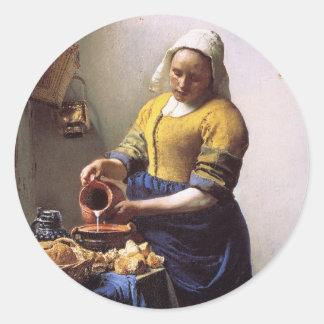 The Milkmaid Classic Round Sticker