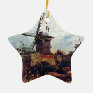 The Mill of Blute End1886 ~ Vincent  van Gogh Ceramic Star Decoration