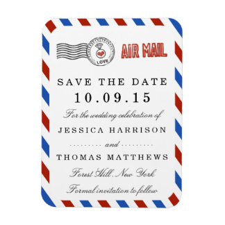 The Modern Airmail Wedding Collection Magnet