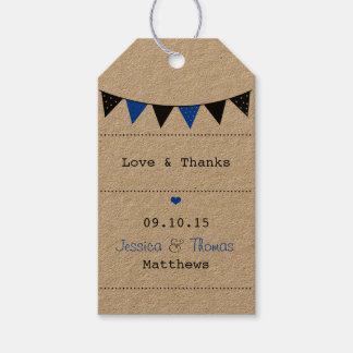 The Modern Blue Bunting Wedding Collection Gift Tags