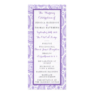 The Modern Paisley Wedding Collection - Purple Rack Card Template